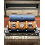 Everest Leather Watch Roll (3 Watches)