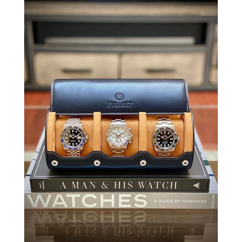 Leather Watch Roll (3 Watches)