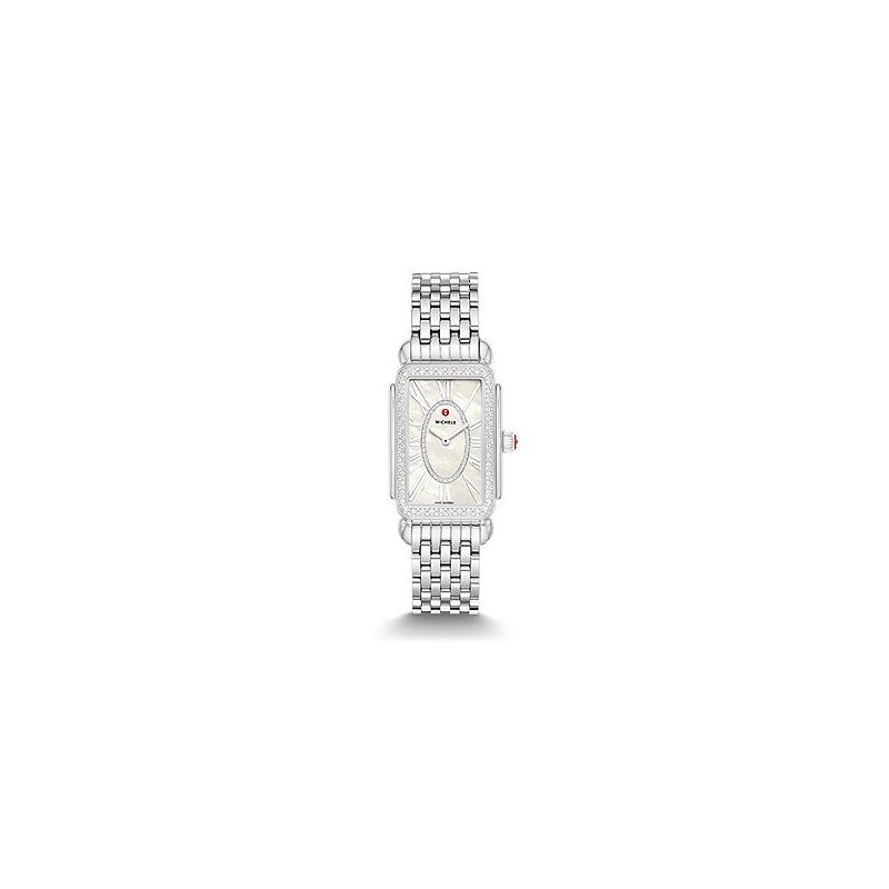 MICHELE Deco Park Stainless Steel Diamond Watch