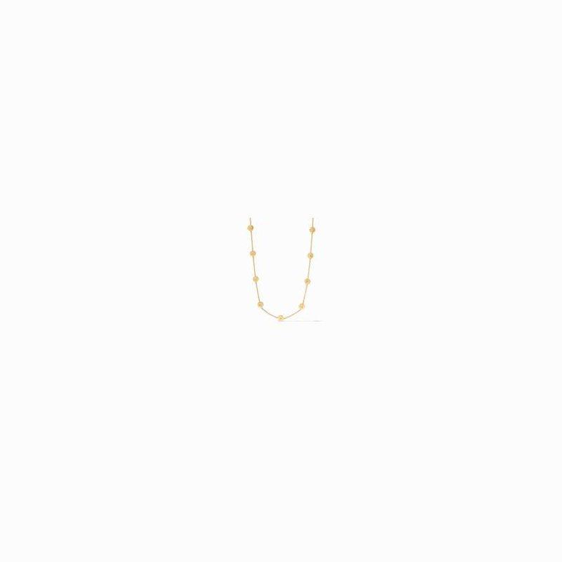 Julie Vos L Poppy Delicate Station Gold Cz Necklace