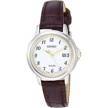 Solar Essentials Quartz White Dial Ladies Watch