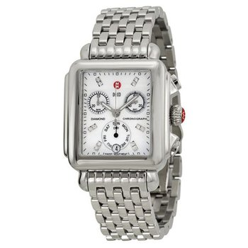 Deco Diamond Dial Ladies Watch