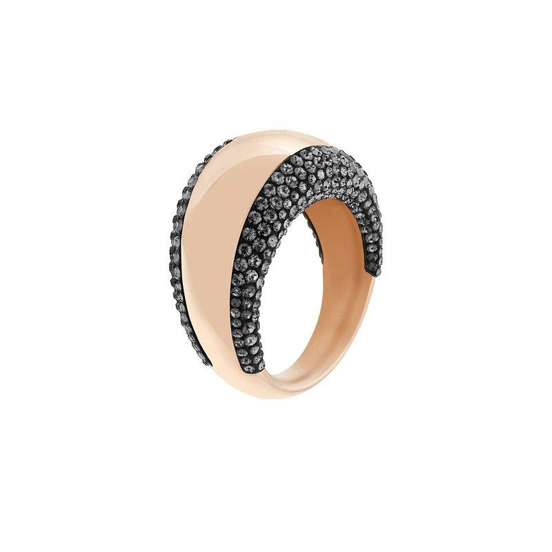 Swarovski Pebble Rose Gold Ring 55