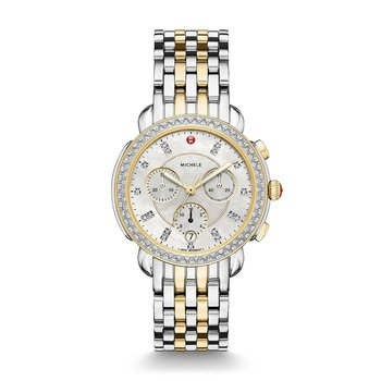 Sidney Two-Tone Diamond & Mother Of Pearl Watch
