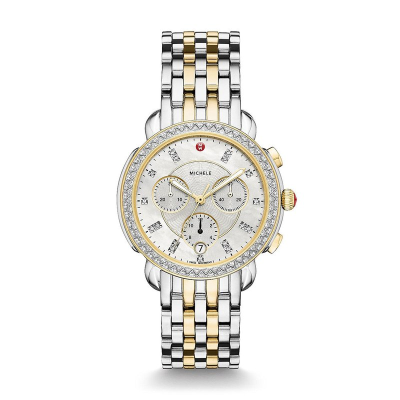 MICHELE Sidney Two-Tone Diamond & Mother Of Pearl Watch