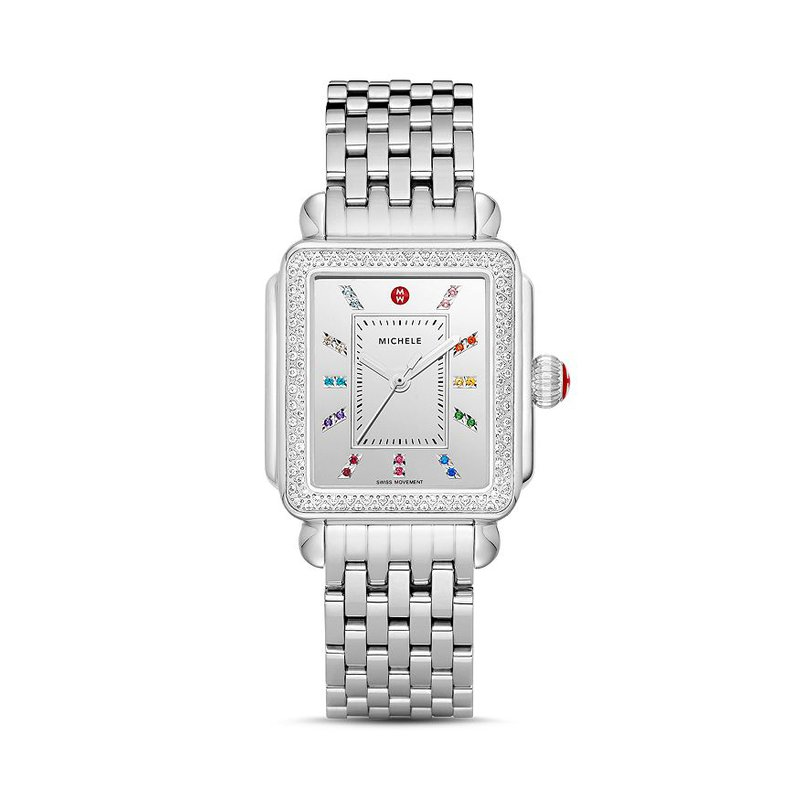 MICHELE Deco Carousel Diamond Watch Head & Bracelet