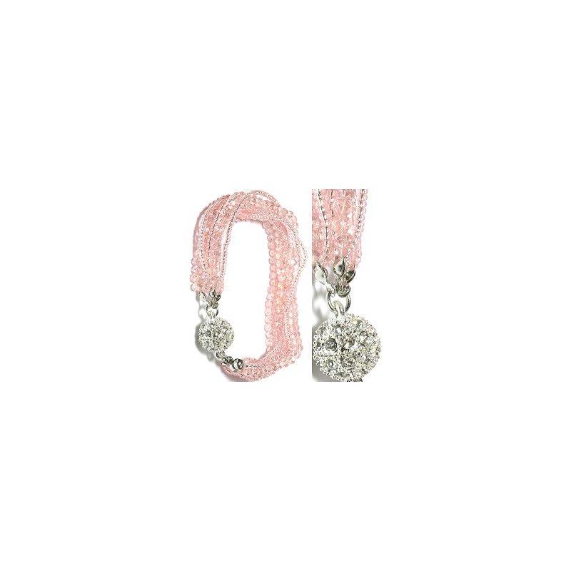 Martin Jewelers Pink Crystal Bracelet