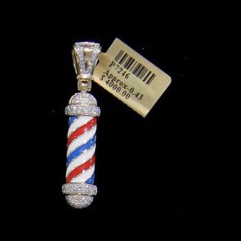 Diamond Barber Shop Pole