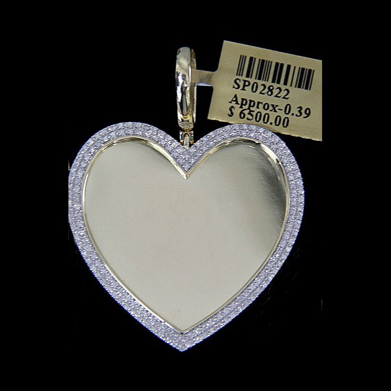 Custom Jewelry Heart Picture Pendant