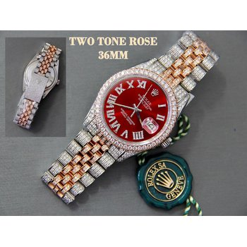 36mm Two Tone Rose 7.85CTW