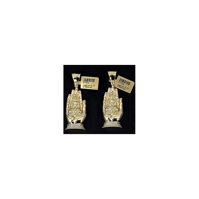 Custom Jewelry Diamond Thai Buddha