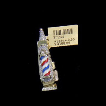 Diamond Barber Shop Pole Lantern