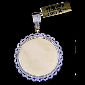 Round Waved Picture Pendant