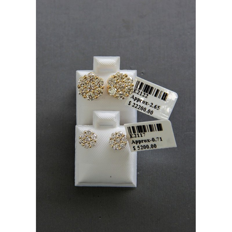 Custom Jewelry Clustered Flower Studs