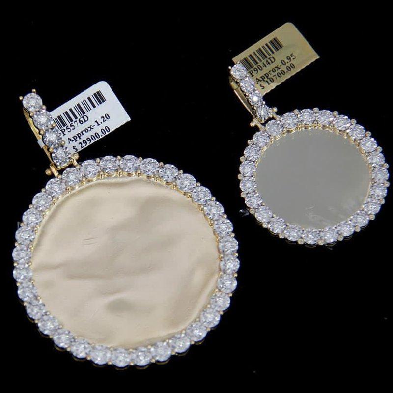 Custom Jewelry Round Diamond Picture Pendant