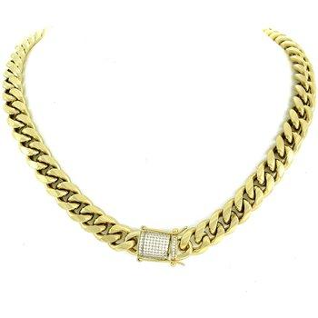 Cuban Link Chain with Diamond Lock
