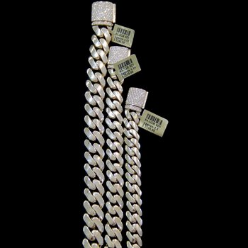 Cuban Link Bracelet with Diamond Lock