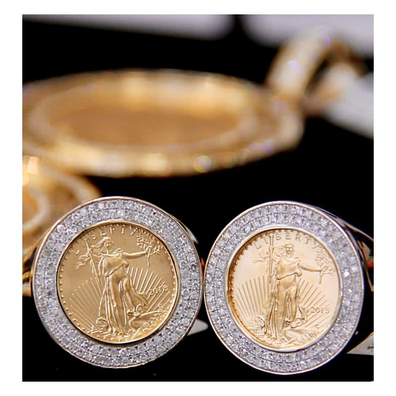 Custom Jewelry Diamond Liberty Ring