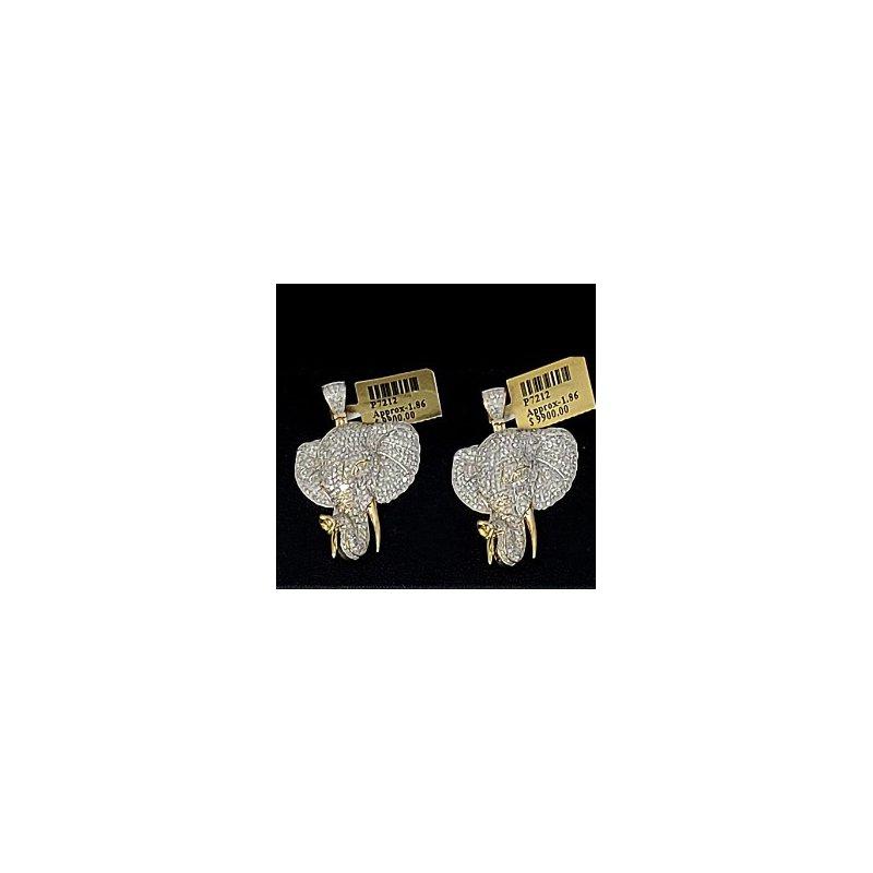 Custom Jewelry Diamond Elephant Head