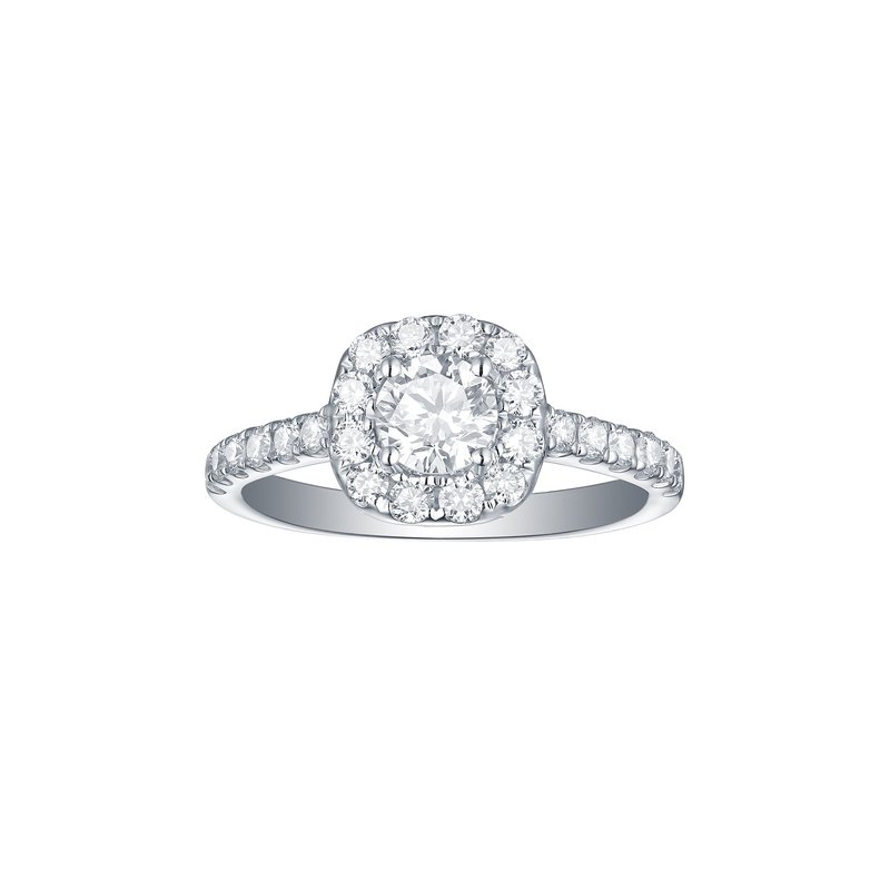Engagement 1.17ct Cushion Halo Ring