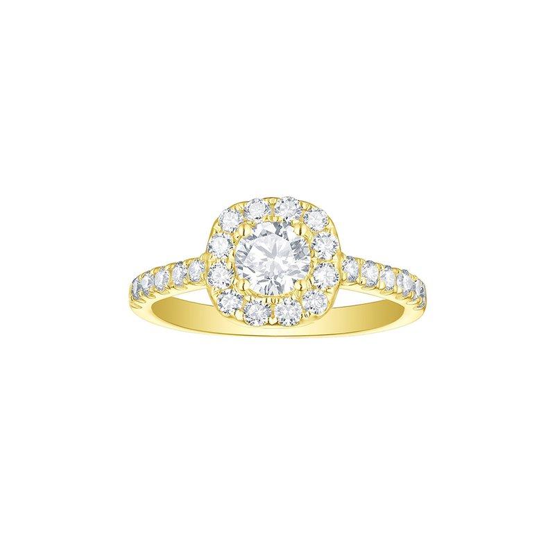 Ron's  Engagement 1.17ct Cushion Halo Ring