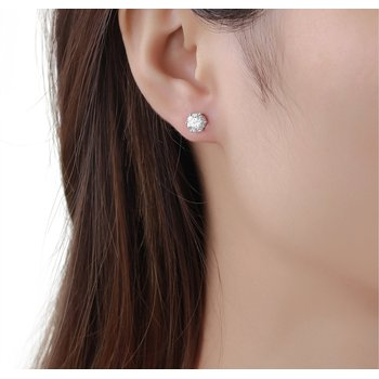 2 ct Solitaire Earrings
