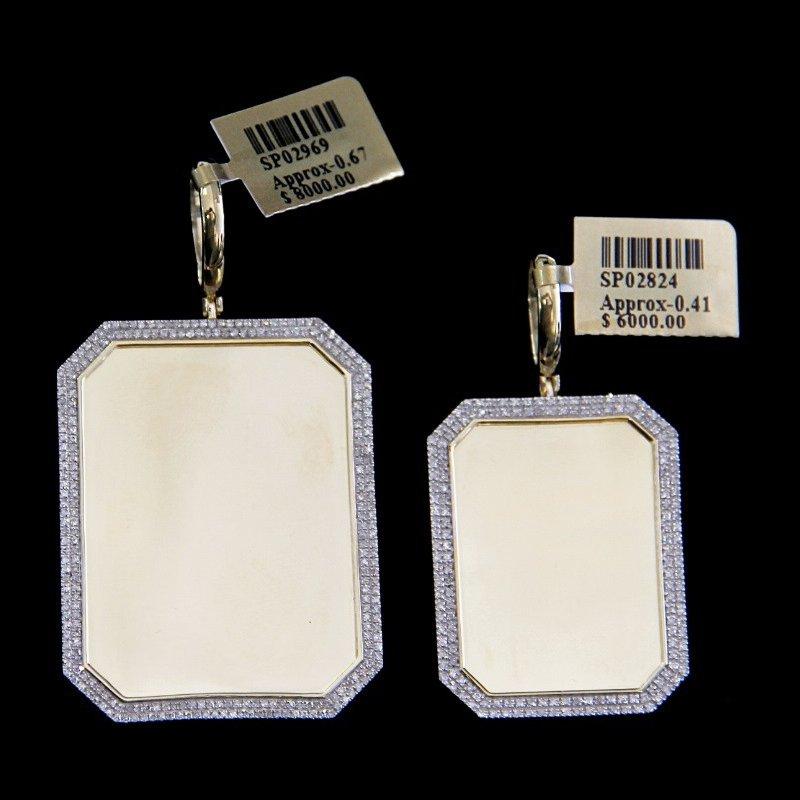Custom Jewelry Corner Cut Picture Pendant