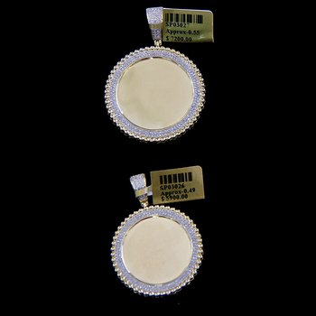 Round Ribboned Picture Pendant