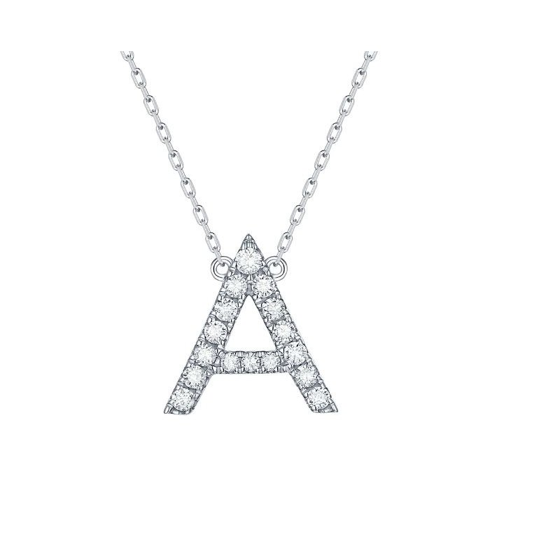 Smiling Rocks Initial Diamond Necklace