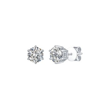 3 ct Solitaire Earrings
