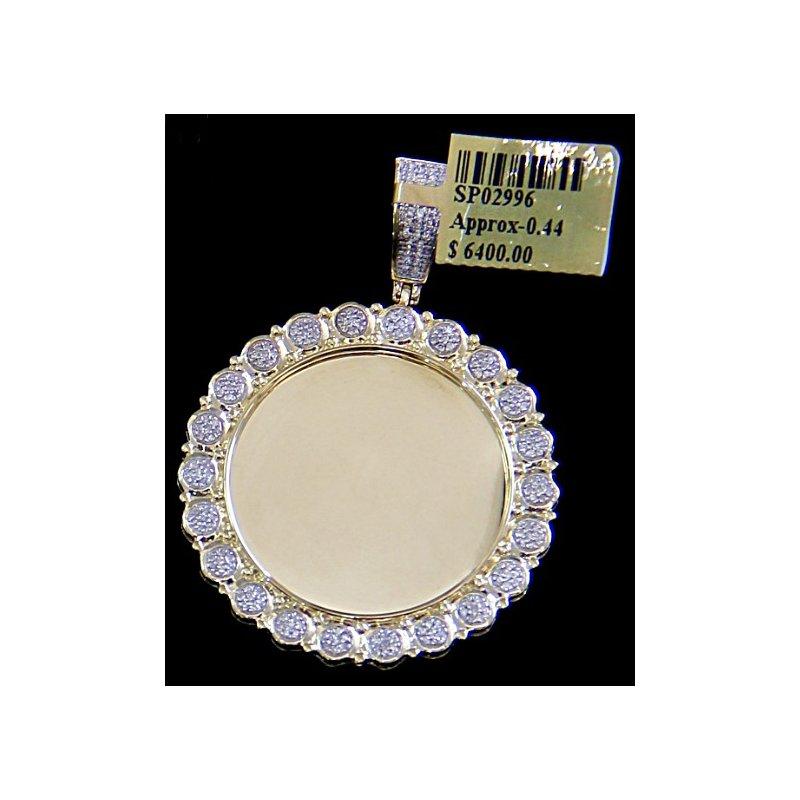 Custom Jewelry Round Micro Pave Picture Pendant