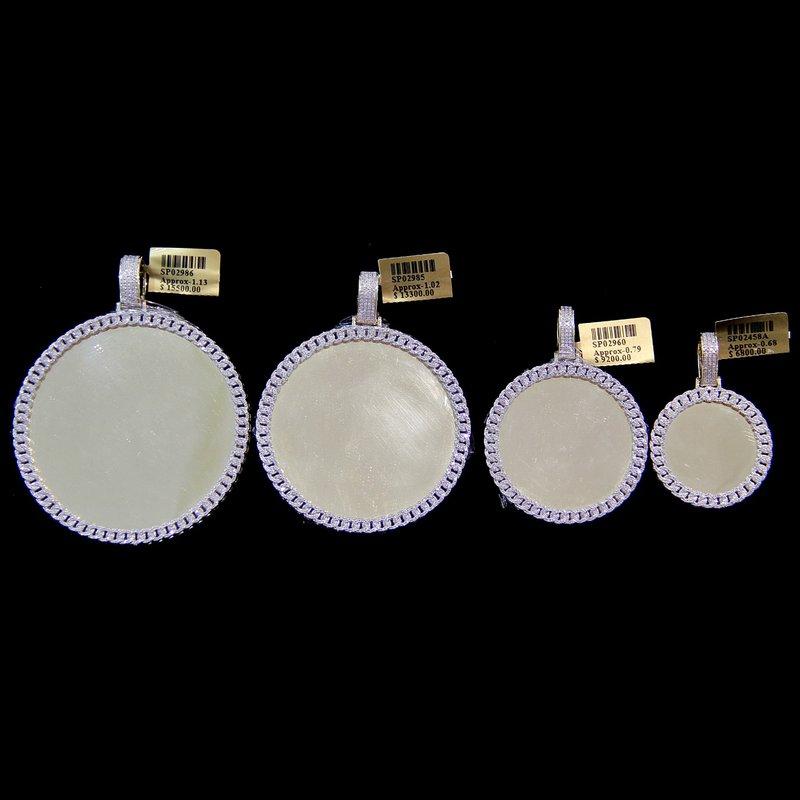 Custom Jewelry Round Miami Cuban Link Picture Pendant