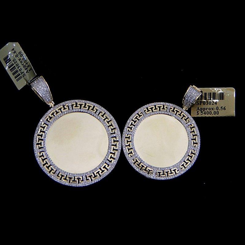 Custom Jewelry Round Versace Print Picture Pendant
