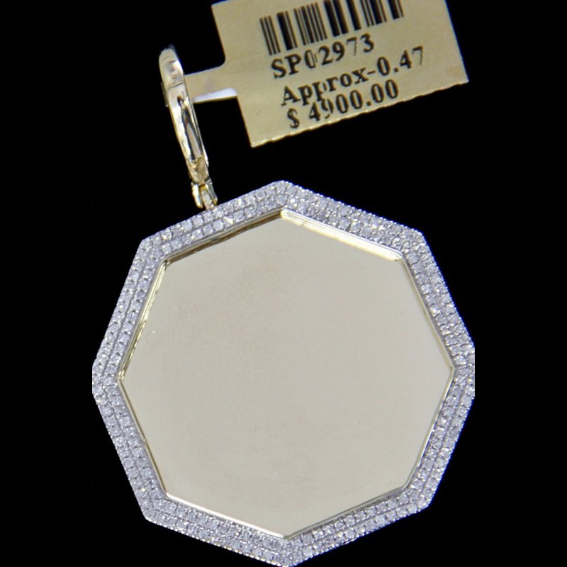 Custom Jewelry Octagonal Picture Pendant