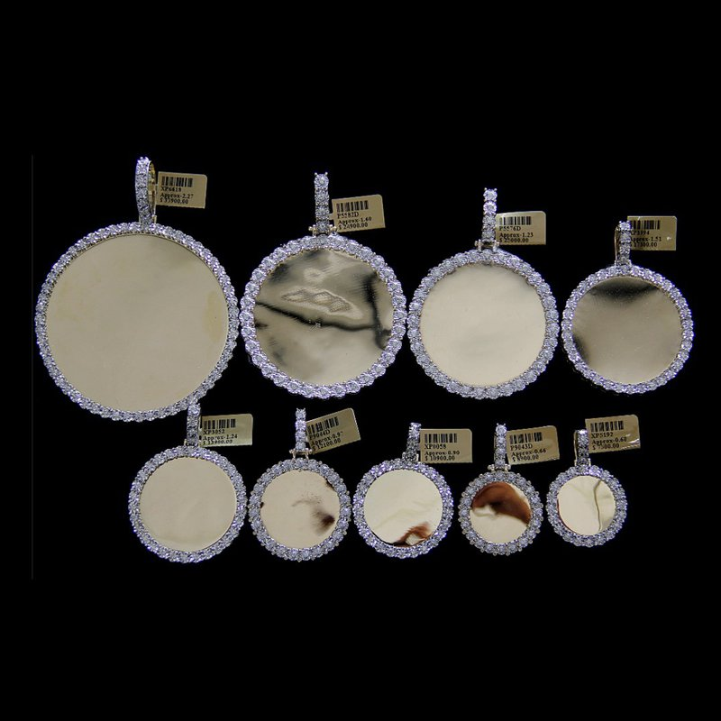 Custom Jewelry Round Illusion Picture Pendants